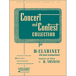 Hal-Leonard-Concert-And-Contest-Collection-For-B-Flat-Clarinet-Solo-Part-Only-Standard