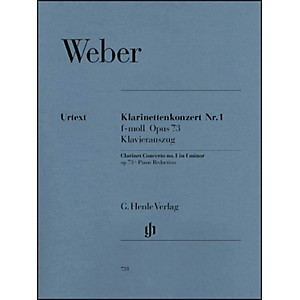 G--Henle-Verlag-Clarinet-Concerto-No--1-in-F-minor--Op--73-By-Weber-Standard