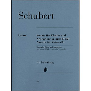 G--Henle-Verlag-Sonata-for-Piano-and-Arpeggione-A-minor-D-821--Op--Posth---Version-for-Violoncello--By-Schubert-Standard