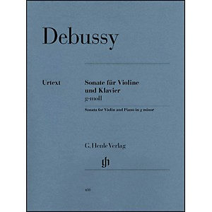 G--Henle-Verlag-Sonata-For-Violin-And-Piano-In-G-Minor-By-Debussy-Standard