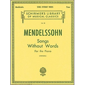 G--Schirmer-Songs-Without-Words-For-Piano-By-Mendelssohn-Standard