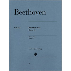 G--Henle-Verlag-Piano-Trios---Volume-II-By-Beethoven-Standard