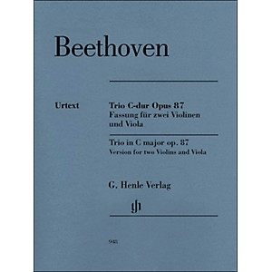 G--Henle-Verlag-Trio-In-C-Major-Op--87-Version-For-2-Violins-And-Viola-By-Beethoven---Voss-Standard
