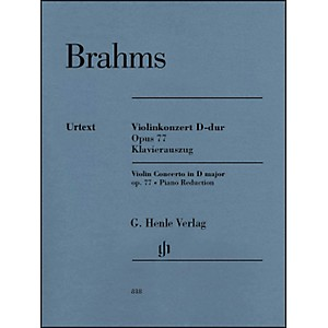 G--Henle-Verlag-Violin-Concerto-in-D-Major--Op--77-By-Brahms-Standard