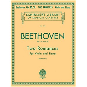 G--Schirmer-Two-Romances-Op-40-and-50-for-Violin---Piano-By-Beethoven-Standard