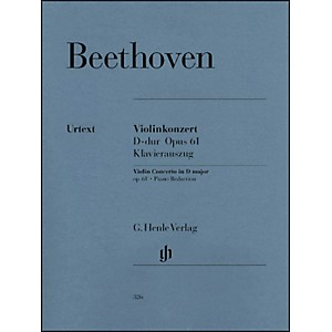 G--Henle-Verlag-Violin-Concerto-In-D-Major-Op--61-Piano-Reduction-By-Beethoven-Standard