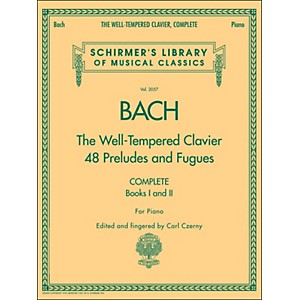G--Schirmer-Well-Tempered-Clavier-Complete-Books-1---2-For-Piano-By-Bach-Standard