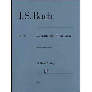 G--Henle-Verlag-Two-Part-Inventions-BWV-772-786-By-Bach-Standard