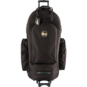 Gard-4-4-Medium-Frame-Tuba-Wheelie-Bag-63-WBFSK-Black-Synthetic-w--Leather-Trim