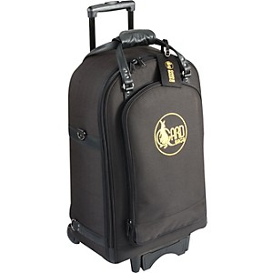 Gard-Quad-Trumpet-Wheelie-Bag-16-WBFSK-Black-Synthetic-w--Leather-Trim