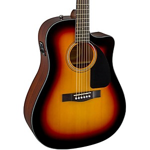 Fender-CD60CE-Cutaway-Dreadnought-Acoustic-Electric-Guitar-Sunburst