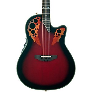 Ovation-Elite-2078-AX-Deep-Contour-Acoustic-Electric-Guitar-Black-Cherry-Burst