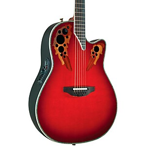 Ovation-Custom-Elite-C2078-AX-Deep-Contour-Acoustic-Electric-Guitar-Red-Tear-Drop