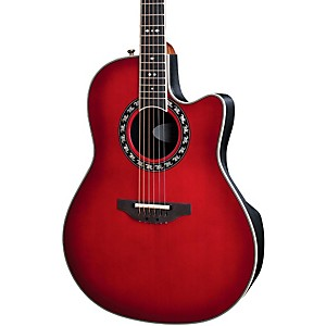 Ovation-Legend-2077-AX-Deep-Contour-Acoustic-Electric-Guitar-Cherry-Cherry-Burst