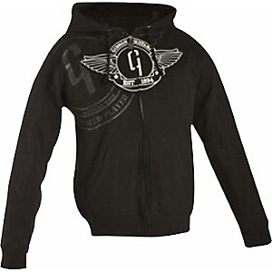 Gibson-Logo-Zip-up-Hoodie-Black-Large