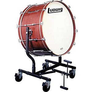 Ludwig-Concert-Bass-Drum-w--LE787-Stand-Mahogany-Stain-20x36