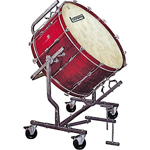 Ludwig-Concert-Bass-Drum-w--Fiberskyn-Heads---LE788-Stand-Black-Cortex-20x36
