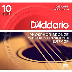 D-Addario-EJ17-10P-Phosphor-Bronze-Medium-Acoustic-Strings--10-Pack--Standard