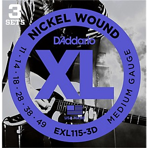 D-Addario-EXL115-Nickel-Blues-Jazz-Electric-Guitar-Strings-3-Pack-Standard