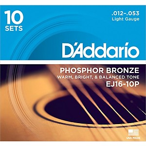D-Addario-EJ16-10P-Phosphor-Bronze-Light-Acoustic-Guitar-Strings--10-Pack--Standard