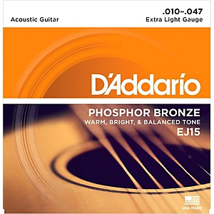 D-Addario-EJ15-Phosphor-Bronze-Extra-Light-Acoustic-Strings-Single-Pack-Standard