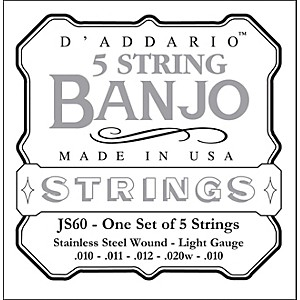 D-Addario-JS60-Stainless-Steel-Light-Banjo-Strings-Standard