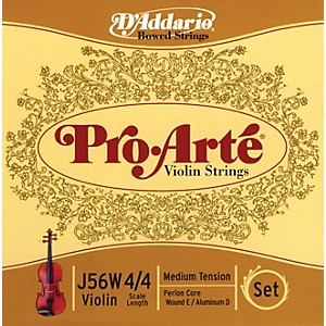 D-Addario-J56W-Pro-Arte-4-4-Violin-String-Set-Aluminum-Wound-E-Medium