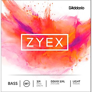 D-Addario-DZ610-Zyex-3-4-Bass-String-Set-Light