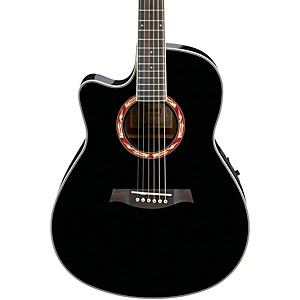 Ibanez-AEF18LE-Left-Handed-Acoustic-Electric-Guitar-Black