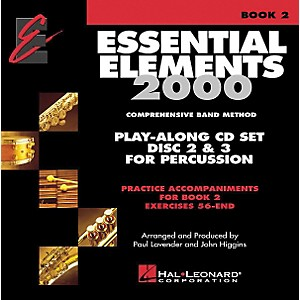 Hal-Leonard-Essential-Elements-Play-Along-CD-Trax-For-Book-2-Percussion-Standard