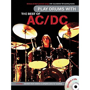 Music-Sales-Play-Drums-With-The-Best-Of-AC-DC--Book---2-CD-s--Standard
