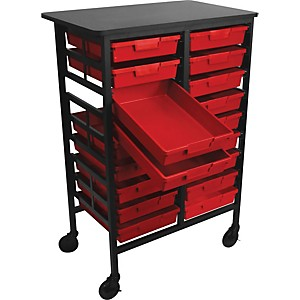 H--Wilson-Mobile-Work-Center-with-18-Single-Storage-Trays-Red-Trays-44-5--H-with-2-tray-rows