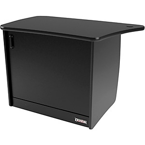 Omnirax-OM13DL-13-Rackspace--CPU-Cubby--and-Door-to-Fit-on-the-Left-Side-of-the-OmniDesk---Black-Standard
