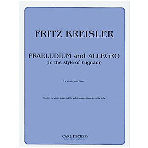 Carl-Fischer-Praeludium-And-Allegro-Standard