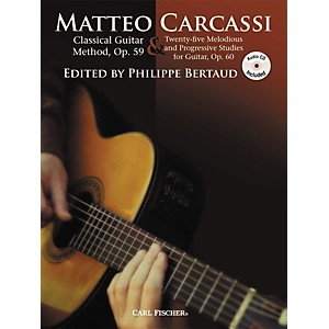 Carl-Fischer-Classical-Guitar-Method--Op--59---25-Melodious---Progressive-Studies-Book-CD-Standard