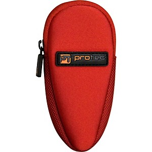 Protec-N264-Neoprene-Series-Trombone-Alto-Saxophone-Mouthpiece-Pouch-with-Zipper-N264RX-Red