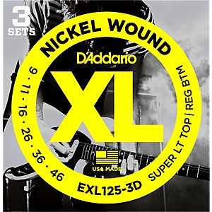 D-Addario-EXL125-3D-Electric-Guitar-Strings-3-Pack-Standard