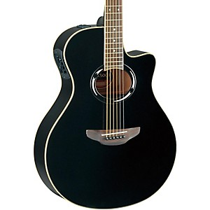 Yamaha-APX500II-Thinline-Cutaway-Acoustic-Electric-Guitar-Black