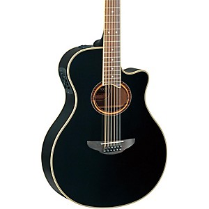 Yamaha-APX700II-12-Thinline-12-String-Cutaway-Acoustic-Electric-Guitar-Black