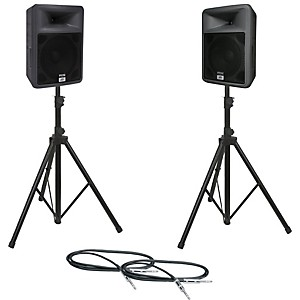 Peavey-PR-12-Speaker-Pair-with-Stands-and-Cables-Standard