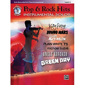 Alfred-Pop---Rock-Hits-Instrumental-Solos-Viola-Book---CD-Standard