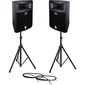 Peavey-PR-15-Speaker-Pair-with-Stands-and-Cables-Standard