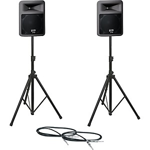 Peavey-PR12D-Speaker-Pair-with-Stands-and-Cables-Standard
