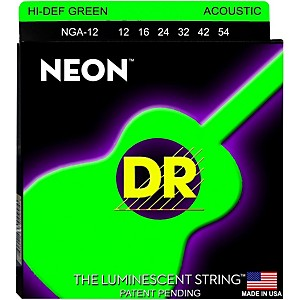 DR-Strings-NGA-12-NEON-Hi-Def-Phosphorescent-Green-Acoustic-Strings-Medium-Standard