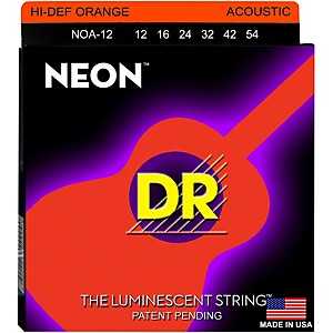 DR-Strings-NOA-12-Neon-Hi-Def-Phosphorescent-Orange-Acoustic-Strings-Medium-Standard