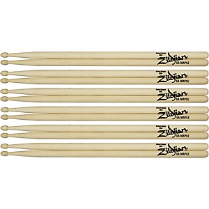 Zildjian-Maple-Drumsticks-6-Pack-Jazz-Wood-Tip