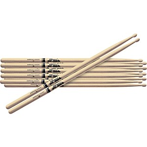 Pro-Mark-6-Pair-American-Hickory-Drumsticks-Nylon-707N