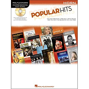 Hal-Leonard-Popular-Hits-For-Horn---Instrumental-Play-Along-Book-CD-Standard