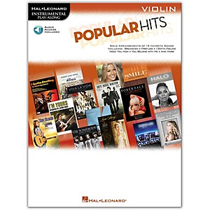 Hal-Leonard-Popular-Hits-For-Violin---Instrumental-Play-Along-Book-CD-Standard