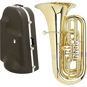 Miraphone-191-Series-4-Valve-BBb-Tuba-with-Hard-Case-Standard